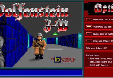 DOS시절 게임인 Wolfenstein 3D를 직접 웹상에서 해보기